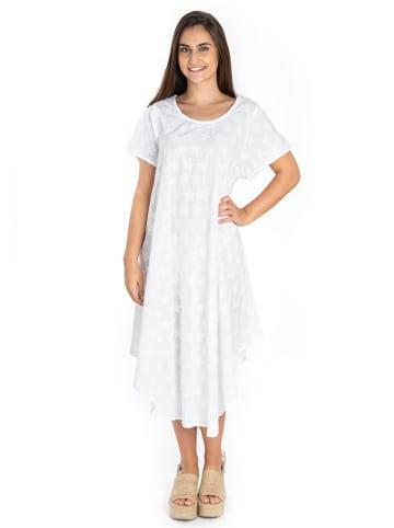 SIGRIS Moda Sukienka w kolorze białym
