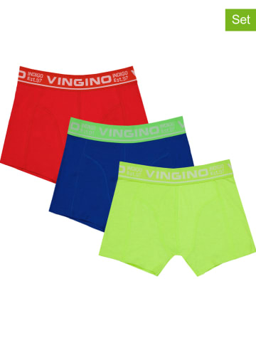 Vingino 3-delige set: boxershorts groen/blauw/rood