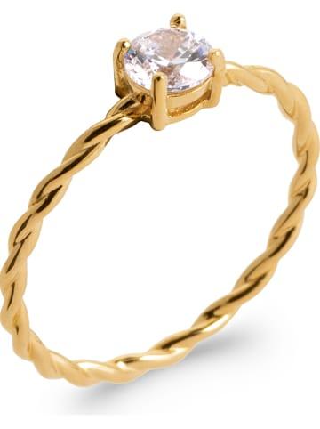 Lucette Vergold. Ring mit Zirkonia
