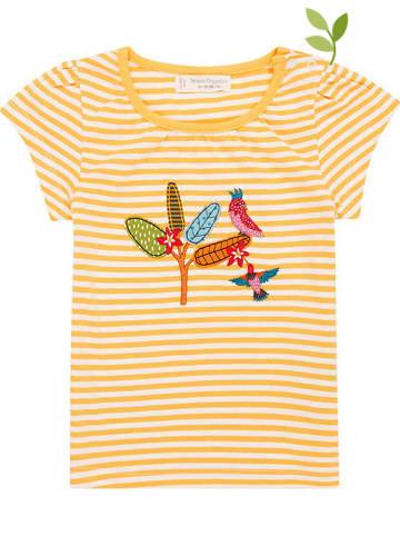 "Sense Organics Koszulka ""Gada"" w kolorze kremowo-żółtym"