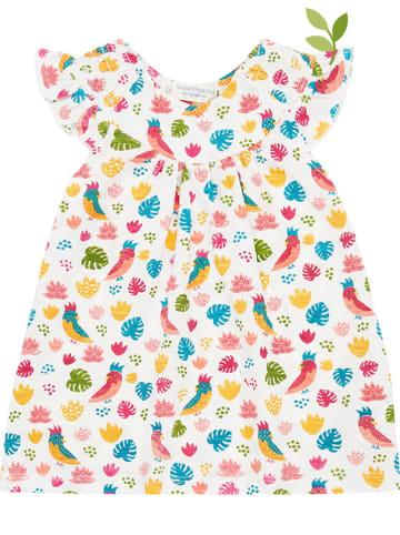 """Sense Organics Sukienka """"Mimi"""" w kolorze kremowym ze wzorem"""