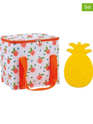 """Ladelle 2tlg. Kühltaschen-Set """"Summer Fun - Peachy"""" in Orange/ Gelb"""