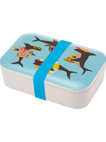 "Ladelle Lunchbox ""Summer Fun - Jawsome"" lichtblauw - (B)19 x (H)6 x (D)13 cm"