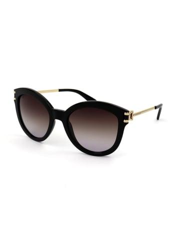 Longchamp Dameszonnebril zwart-goudkleurig/bruin
