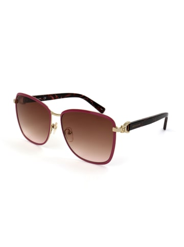Longchamp Dameszonnebril lichtroze-goudkleurig/bruin