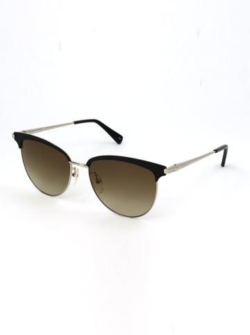 Longchamp Dameszonnebril zwart-zilverkleurig/kaki
