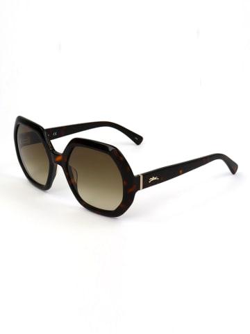 Longchamp Dameszonnebril donkerbruin/bruin