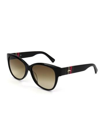 Longchamp Dameszonnebril zwart/lichtbruin