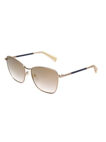 Longchamp Dameszonnebril goudkleurig/lichtbruin