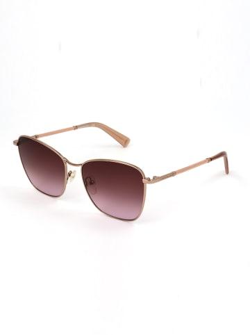 Longchamp Damskie okulary przeciwsłoneczne w kolorze różowozłoto-fioletowym