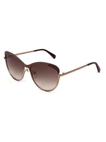 Longchamp Dameszonnebril bruin-roségoudkleurig/paars