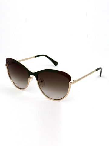 Longchamp Dameszonnebril goudkleurig-zwart/bruin