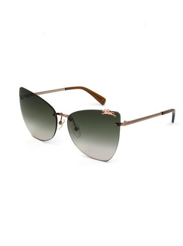 Longchamp Dameszonnebril bruin/groen