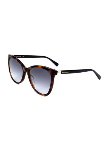 Longchamp Damen-Sonnenbrille in Braun-Schwarz/ Blau