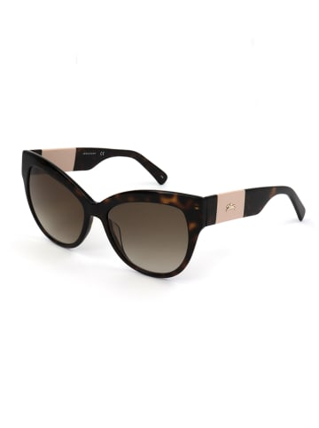 Longchamp Damskie okulary przeciwsłoneczne w kolorze ciemnobrązowym