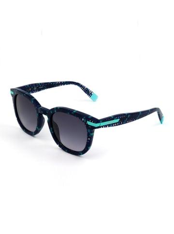 Furla Damen-Sonnenbrille in Dunkelblau-Türkis/ Blau