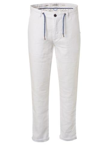 No Excess Leinen-Chino - Regular fit - in Weiß