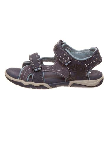 """Timberland Skórzane sandały """"Park Hopper 2"""" w kolorze granatowym"""