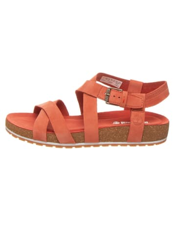 "Timberland Leren sandalen ""Malibu Waves"" koraalrood"