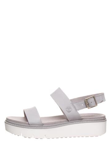 """Timberland Skórzane sandały """"Safari Dawn"""" w kolorze szarym"""