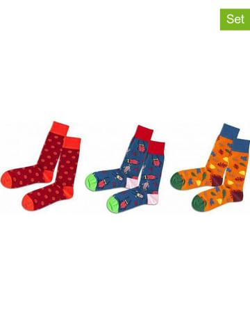 """DillySocks 3-delige set: sokken """"In To The Wild"""" meerkleurig"""
