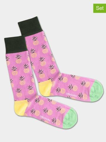 """DillySocks 2er-Set: Socken """"Pineapple Lila"""" in Lila"""