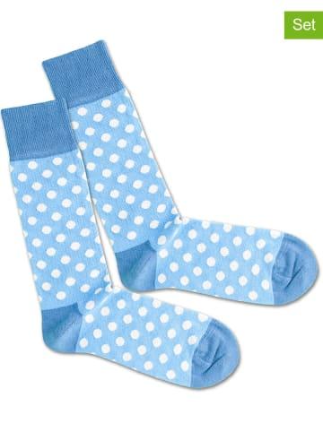 """DillySocks 2er-Set: Socken """"Sky Dots"""" in Blau"""