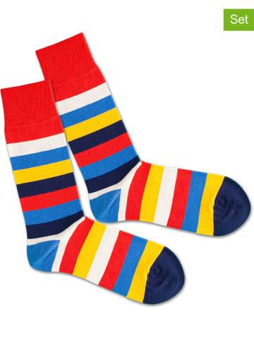 "DillySocks 2-delige set: sokken ""Stripe Hype"" meerkleurig"
