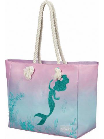 "American Tourister Strandtas ""Modern Glow Disney"" lichtroze/turquoise - (B)42 x (H)32,5 x (D)21 cm"