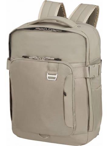 """Samsonite Skórzany plecak """"Midtown"""" w kolorze beżowym - 31 x 45 x 23 cm"""