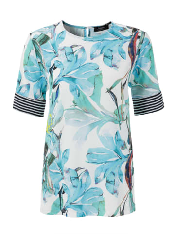 Aniston SELECTED Blouse turquoise/wit