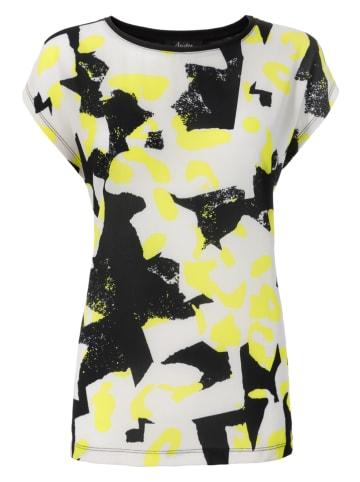 Aniston SELECTED Shirt zwart/geel