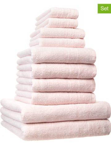 Avance 10tlg. Handtuch-Set in Rosa