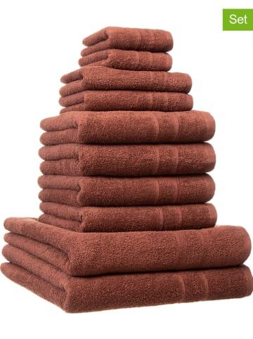 Avance 10tlg. Handtuch-Set in Braun