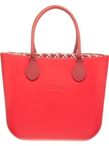 "O Bag Handtas ""O Bag"" rood - (B)39 x (H)31 x (D)14 cm"