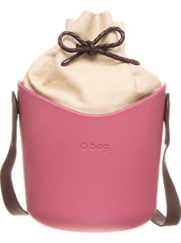 """O Bag Schoudertas """"O Basket"""" roze/crème - (B)25 x (H)20 x (D)15 cm"""