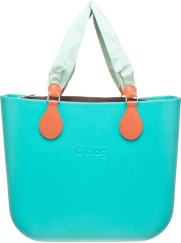 "O Bag Henkeltasche ""O Bag"" in Türkis/ Braun - (B)39 x (H)31 x (T)14 cm"