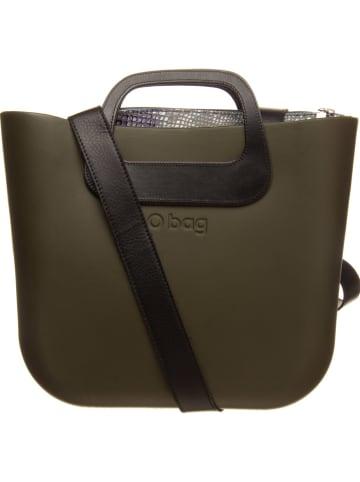 "O Bag Handtas ""O Bag Mini"" kaki/grijs - (B)29 x (H)31 x (D)12 cm"