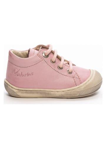 Naturino Skórzane buty w kolorze jasnoróżowym do nauki chodzenia