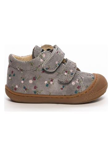 Naturino Skórzane buty w kolorze szarym do nauki chodzenia