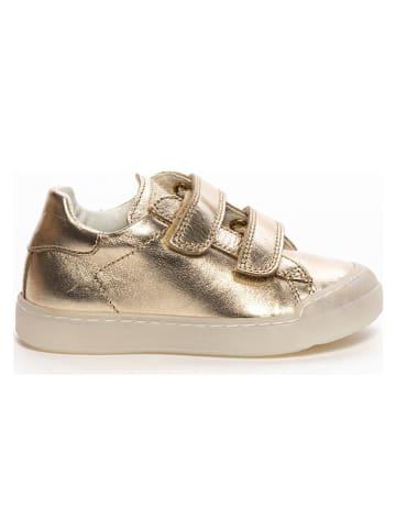 Naturino Skórzane sneakersy w kolorze złotym