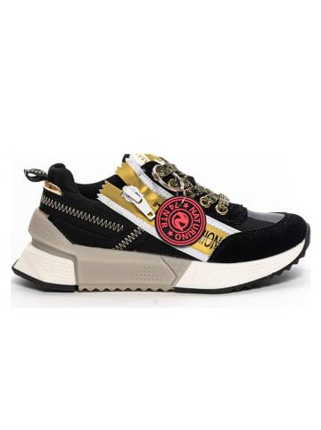 Naturino Skórzane sneakersy w kolorze czarnym