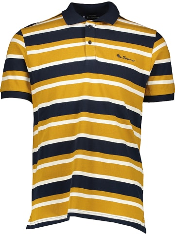 Ben Sherman Poloshirt geel/donkerblauw/wit