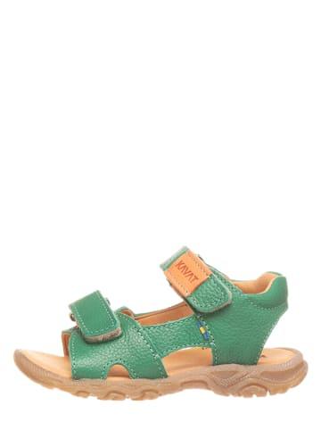 KAVAT Leren sandalen groen