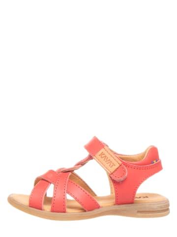 KAVAT Leren sandalen roze