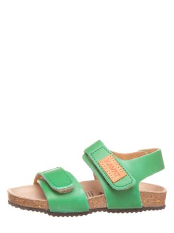 KAVAT Skórzane sandały w kolorze zielonym