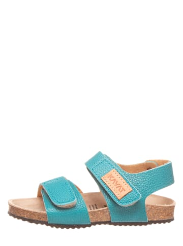 KAVAT Leren sandalen turquoise