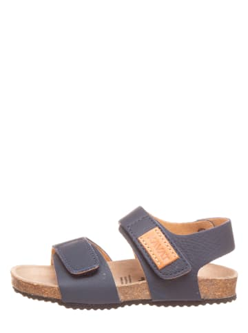 KAVAT Leren sandalen blauw