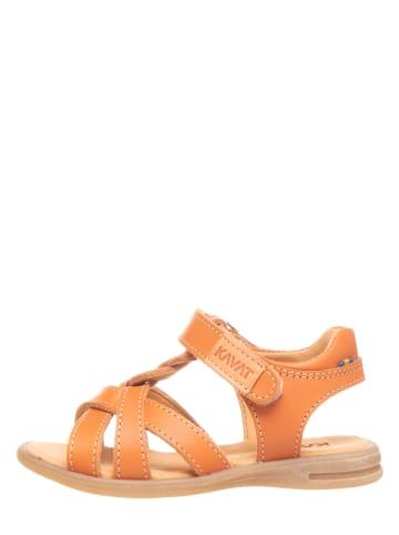 KAVAT Leren sandalen oranje