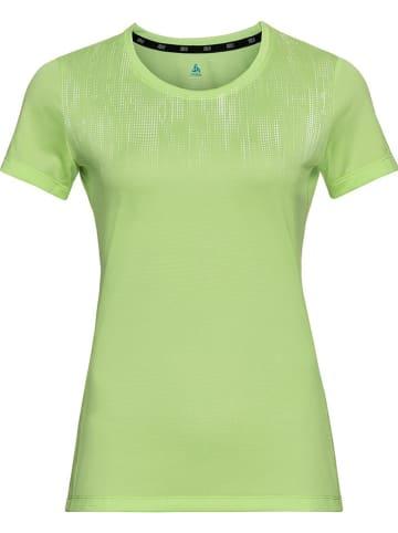 """Odlo Koszulka sportowa """"Element"""" w kolorze zielonym"""